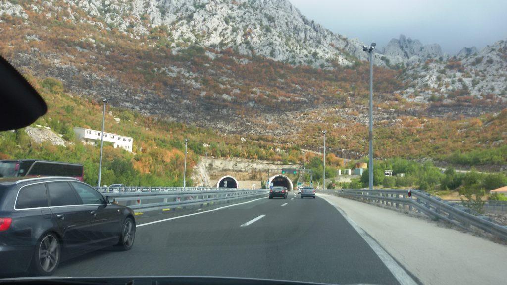 Autopista camino de Zagreb