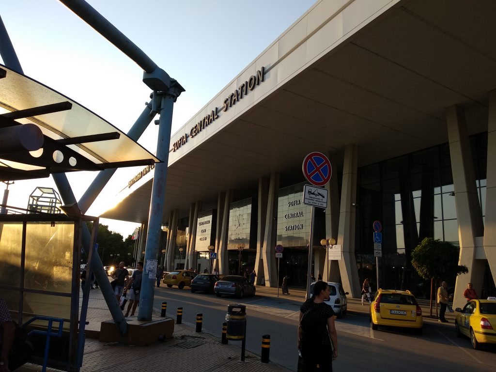 Exterior de la estación central de Sofia