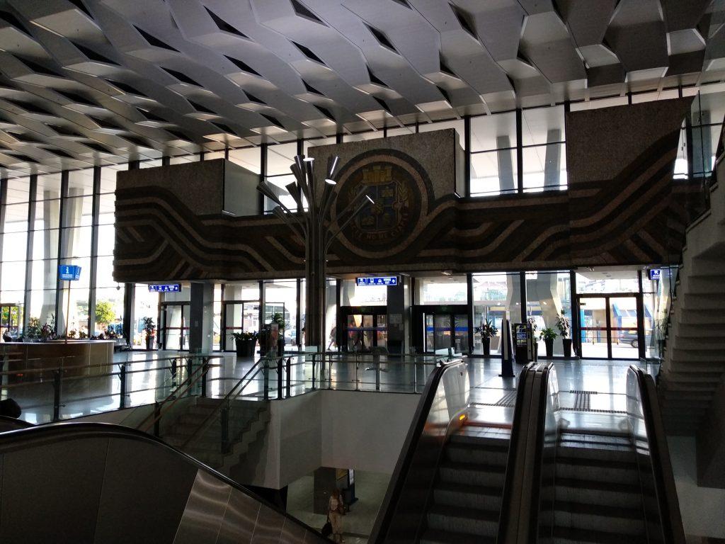 Interior de la estación central de Sofia