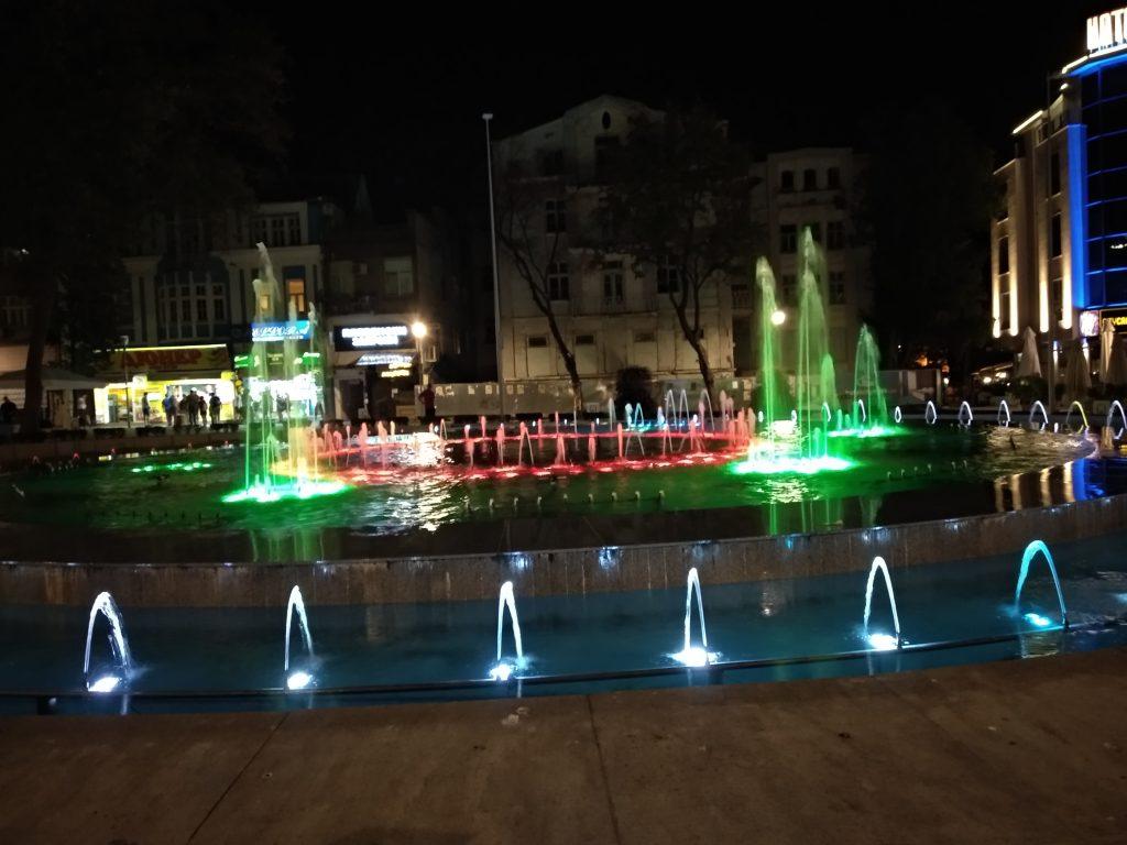 Fuente luminosa en Varna